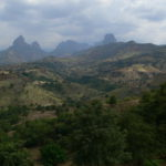 Simien Mountains from the lowlands